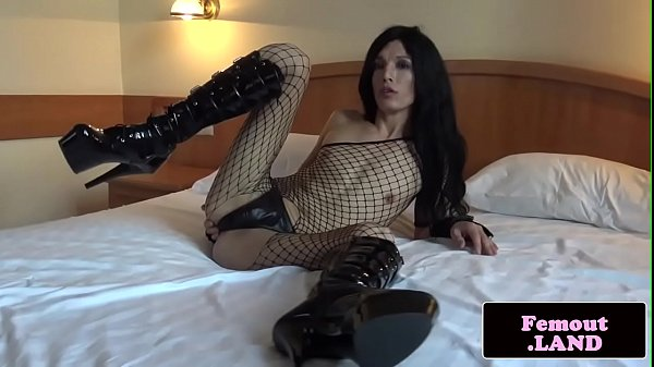 Shemale masturbation, Fishnet